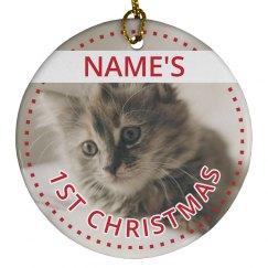 Custom Kitten Photo Christmas