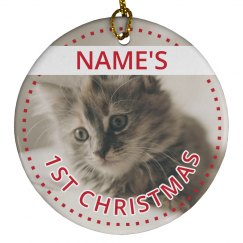 Custom Kitten Photo Christmas