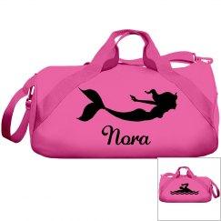 Nora's swimming bag