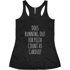 running out pizza cardio