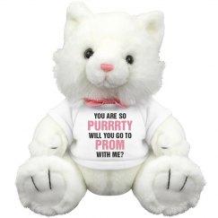 Funny Promposal Cat Pun Plush