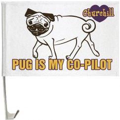 Pet Pug Flag