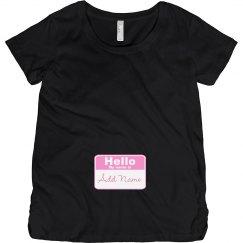 Hello Baby Girl Badge