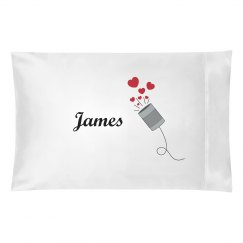James personalized pillow