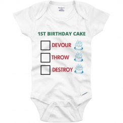 1st birthday cake outfit
