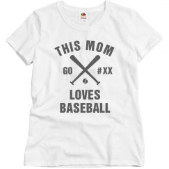 Baseball Mom Bling Tee Custom