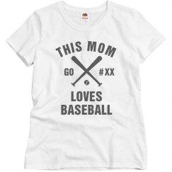 Baseball Mom Tee Custom