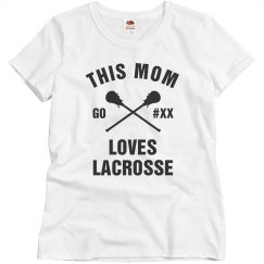 Custom Bling Mom Lacrosse Lover