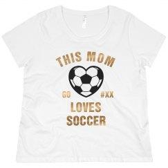 Bling Metallic Custom Soccer Mom