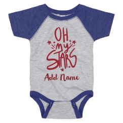 Oh My Stars Custom Baby for the 4th