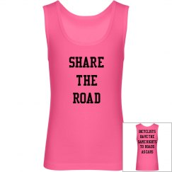 Share the Road - Bicyclists Rights Youth Tee