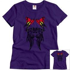 Tribal Butterflies red