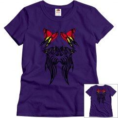 Tribal Butterflies red