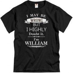 I'm William
