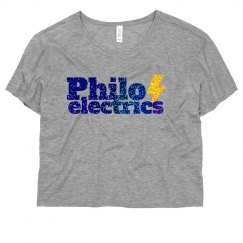 Philo Glitter Flowy crop top