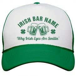 Custom Irish Bar St Pattys Hat