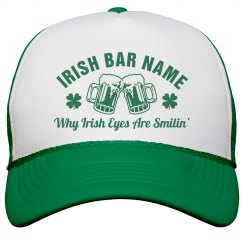 Custom Irish Bar St Pattys Hat
