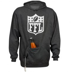 Fantasy Football League Logo One Color Tailgate Hoodie