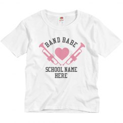 Youth Band Babe Custom School Tee