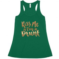 Gold Kiss Me Im Drunk St. Pats