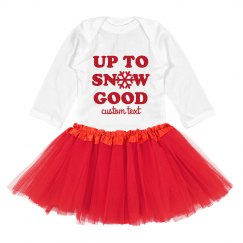Up To Snow Good Baby Tutu Set