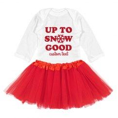 Up To Snow Good Baby Tutu Set