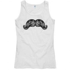 Mustache Graphic Tank