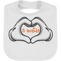 Baby Bib by Month 3 mth