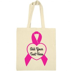 Personalize Your Own Breast Cancer Tote