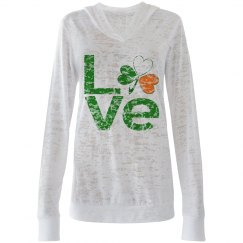 Irish Shamrock Green LOVE