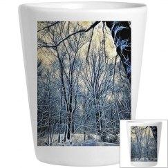 4 Oclock Winter Landscape Shotglass