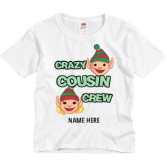 Add Your Name Christmas Crazy Cousin Crew T-Shirt