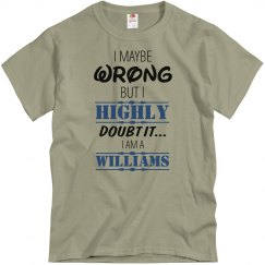 I am a Williams