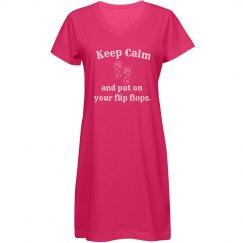 Keep Calm Cover Up - blue