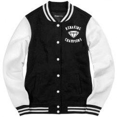 Ladies Fleece Letterman Varsity Jacket