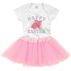 Happy Easter Bunny Tutu Bodysuit
