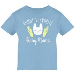 Bunny's Favorite Custom Name Tee