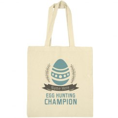 Custom Name Egg Hunting Campion Tote