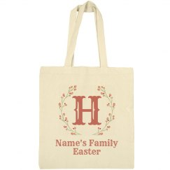 Custom Family Name Easter Tote