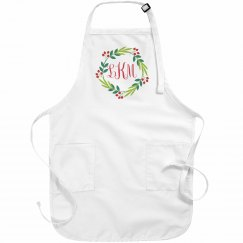 Christmas Monogram Custom Aprons