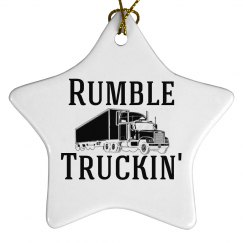 Rumble Truckin' Christmas Ornament