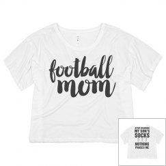 Football Mom Respect Flowy Tee