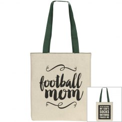 Football Mom Respect Tote Bag