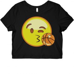 Emoji Basketball Crop Top