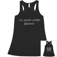 I'm nicer after boxing