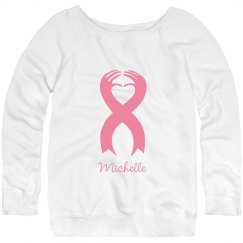 Fashionably Fearless Breast Cancer Sweater With Name