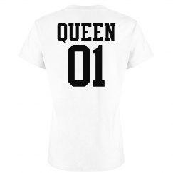 25cefd3d4e6 Matching King Queen Couple Jersey