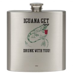 Drinking Iguana 6oz. Flask
