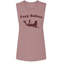 Ladies Flowy Scoop Muscle Tank