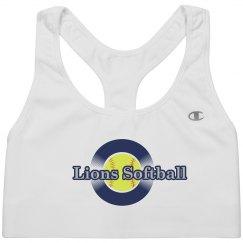 Lions Softball Sports Bra